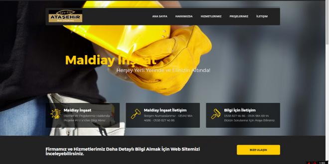 Malatya Maldiay İnşaat Firması Web Tasarımı